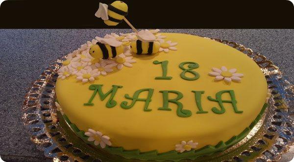 Tarta personalizada abejas