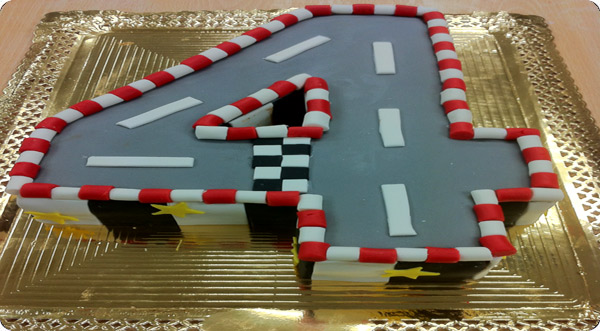 Tarta circuito de carreras